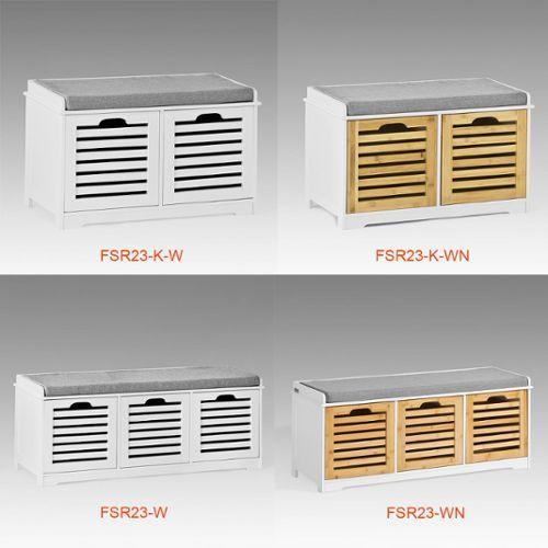 Sobuy Fsr23 Wn Banc De Rangement Avec Coussin Rembourre Et 3 Cubes Meuble D Banc De Rangement Commode A Chaussures Meuble Entree