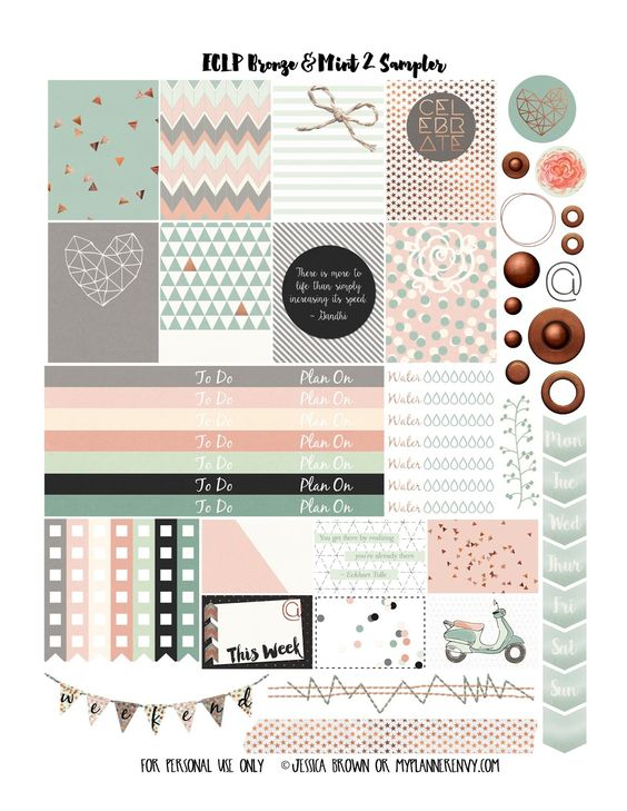 mint free planner and planners on pinterest