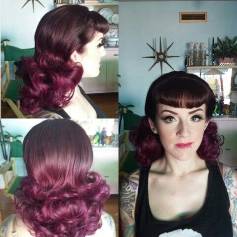 Late 50's inspired hair and makeup I did.