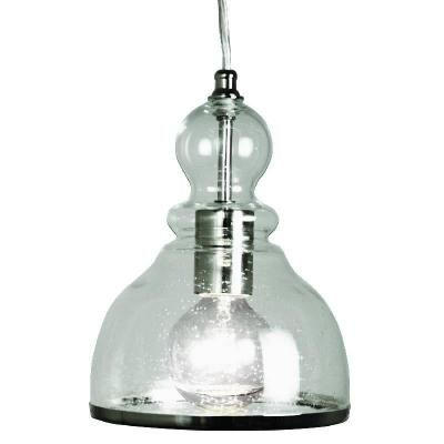 70 home decorators collection 1 light ceiling polished nickel bell pendant with clear glass shade 25418 32 at the home depot fixture dimensions 7 in
