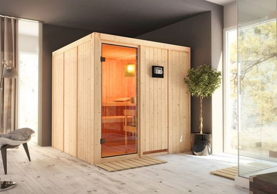 Auch die Karibu Sauna Innenkabine Brienz ist bei der Gartenhaus GmbH erhältlich.