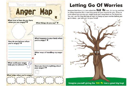 love this printable anger map and worry tree parenting psychology pinterest maps. Black Bedroom Furniture Sets. Home Design Ideas