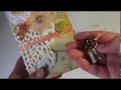 ▶ Paper Bag Mini Album - Grandma's Sewing Basket Theme - MAS swap - YouTube