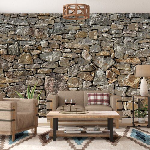 Matrix 12 X 48 Reclaimed Engineered Wood Wall Paneling In Brown In 2020 Stone Wall Design Wall Murals Wallpaper Panels