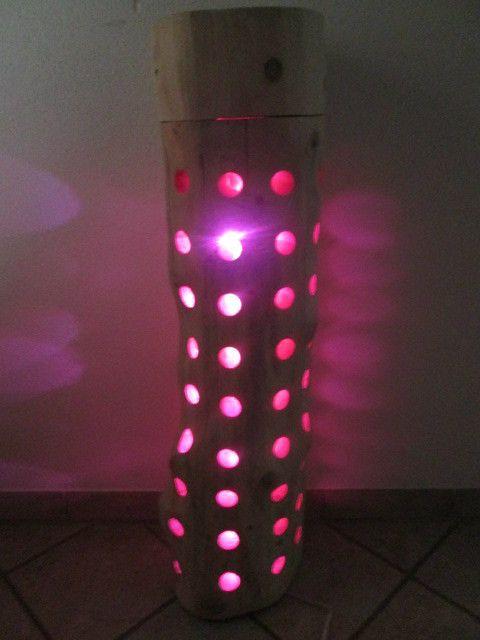 Nr.56, Baumstammlampe, 30cm x 27cm x 104cm, Stehlampe