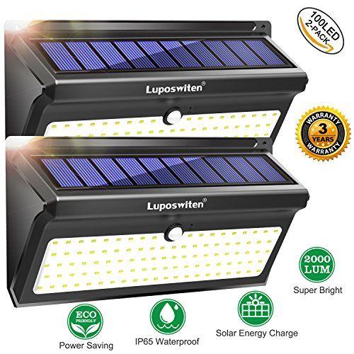 luposwiten 28 LED Energia Solare Luci Di Sicurezza Con Movimento Energia Solare Solar Lights Outdoor