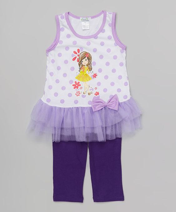 Look at this Purple Girly Tutu Tank & Leggings - Toddler & Girls on #zulily today!