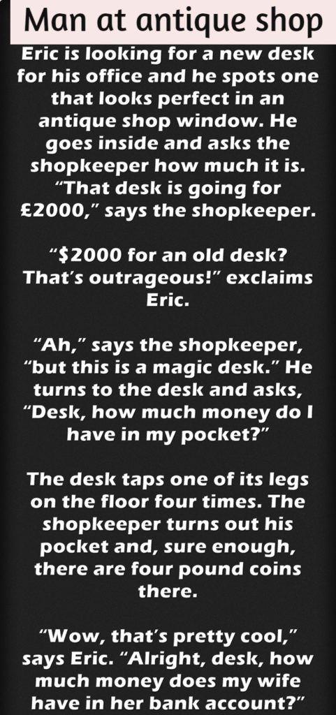 Man At Antique Shop Antique Shops Couples Jokes Man