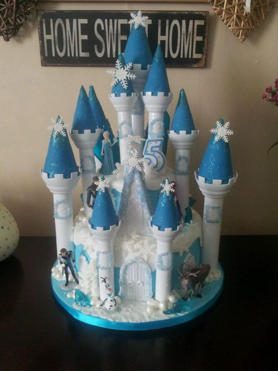 frozen castle cake wilton - Google Search