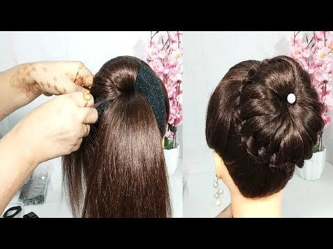 Easy Juda Bun Hairstyle For Wedding Cute Hairstyle Juda Hairstyle New Hairstyle Hairstyles Yout Hairstyles Juda Wedding Bun Hairstyles Bun Hairstyles