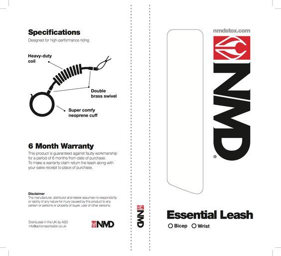 NMD Bodyboards Leash Pack