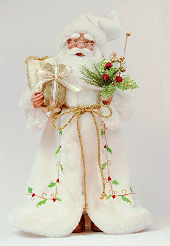 "16"" Inch Standing Holly Leaf Santa Claus Christmas Figurine Figure Decoration 41602. #SantaClaus #Santa #Claus #Christmas  #Figurine #Decor #Gift #gosstudio .★ We recommend Gift Shop: http://www.zazzle.com/vintagestylestudio ★"
