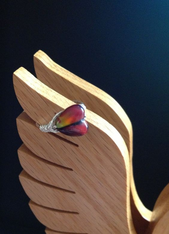 Red Fire Ring by SpareTimeDesignsMI on Etsy, $10.00
