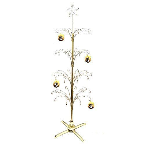 Hohiya Metal Christmas Ball Ornament Display Tree Rotating Stand Brass Plated Hohiya Ornament Tree Display Ornament Display Christmas Balls