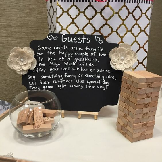 Wedding Games For Guests: Jenga, Guest Books And Bridal Shower On Pinterest