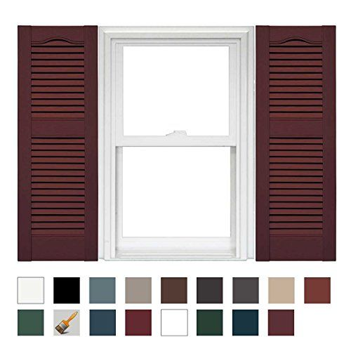 Mid America Cathedral Open Louver Vinyl Standard Shutter Https Www Amazon Com Dp B07z53ngxl Ref C Modern Builders Supply Louvered Shutters Vinyl Shutters