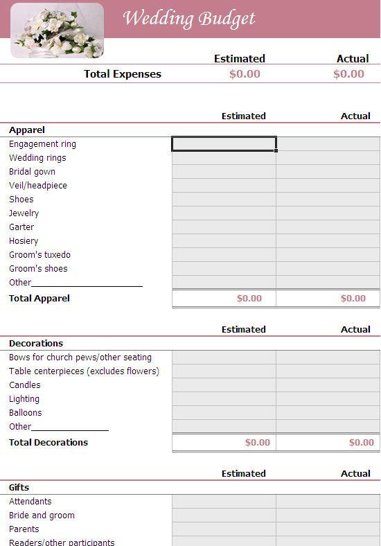 Guid on Planning A Wedding Checklist Wedding Pinterest - sample wedding planning checklist template