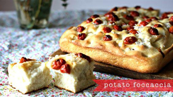 Potato focaccia for after school | Focaccia, Potatoes and School ...
