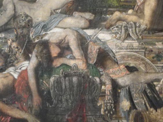 """musée Gustave Moreau : détail du tableau """"les prétendants"""""""
