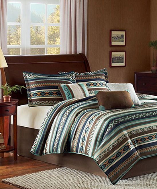 Comforter Brown And Blue Brown On Pinterest