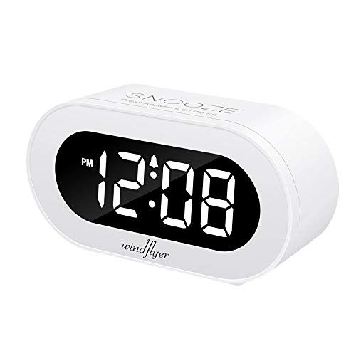 Windflyer Small Led Digital Alarm Clock With Snooze Simple To