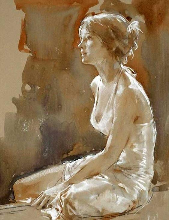 Artist: Paul Hedley {figurative woman painting}