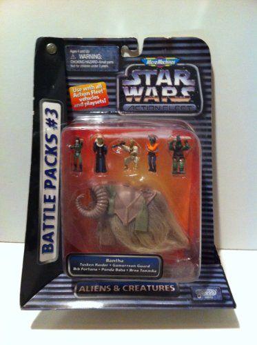Star Wars Action Fleet Battle Packs #3: Bantha with Poseable-action Figures - Tusken Raider, Gamorrean Guard, Bib Fortuna and Brea Tonnika MicroMachines http://www.amazon.com/dp/B00000JDRA/ref=cm_sw_r_pi_dp_bZpPtb1PYVA9RRGY