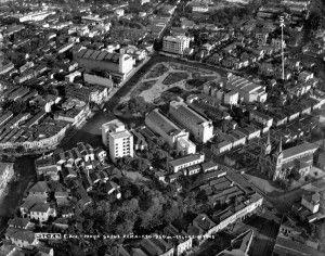 A Praça Saens Peña foi conhecida como a segunda Cinelândia carioca (c. 1940). Foto Arquivo Museu Aeroespacial Divulgação