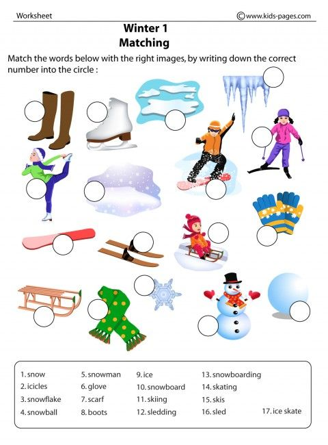winter 1 worksheets httpwwwkidspagescomfolders