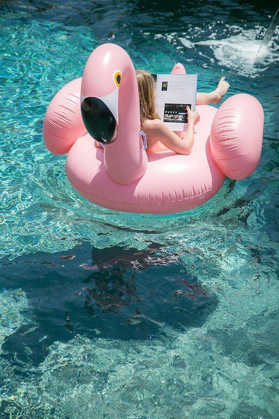 Say yes to giant flamingo floaties. Around the World