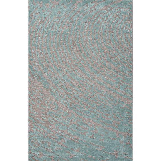 Jaipur Rugs Modern Toneontone Pattern Gray/Blue Wool and Art Silk Area Rug CLN09 (Rectangle)