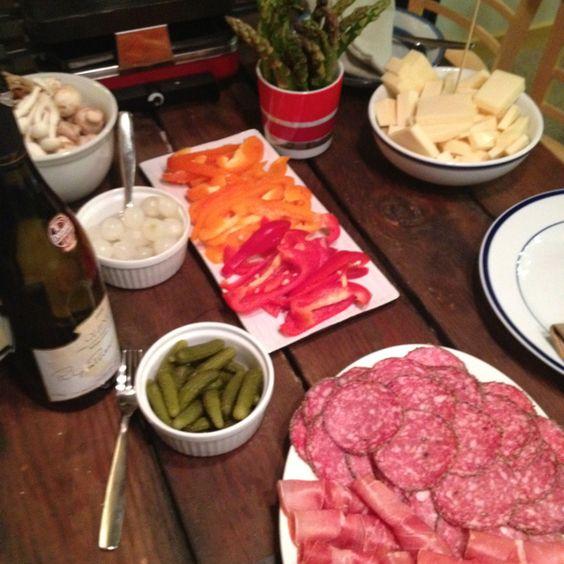 raclette club food meat all kinds eggs pinterest. Black Bedroom Furniture Sets. Home Design Ideas