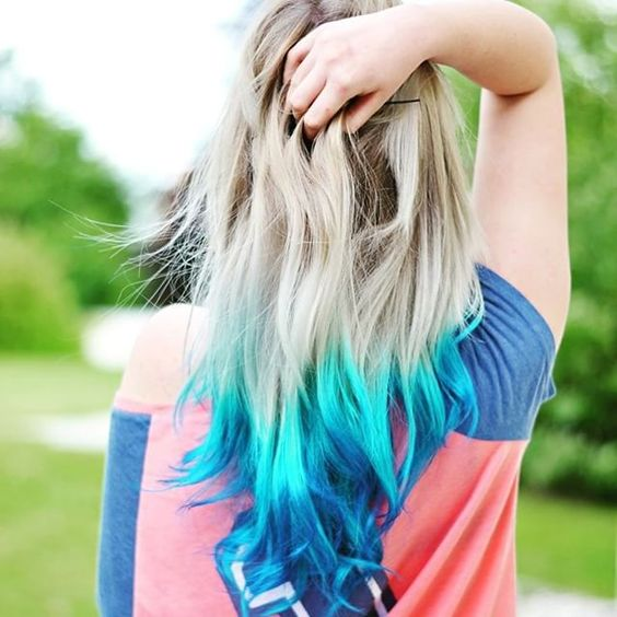 #blau #haare #ombre #geil #farben