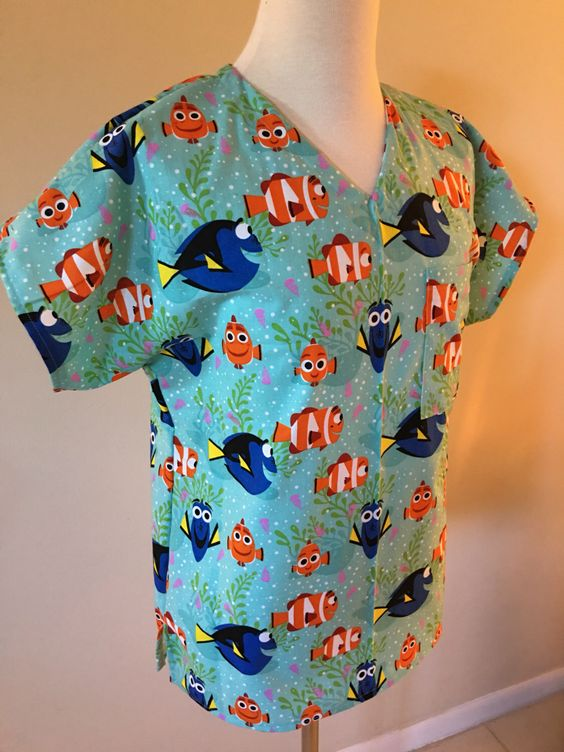 A personal favorite from my Etsy shop https://www.etsy.com/listing/281227372/finding-nemo-medical-scrub-disney