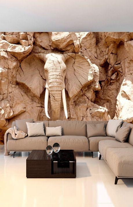 Stone Elephant South Africa Fototapete Wohnzimmer Tapeten