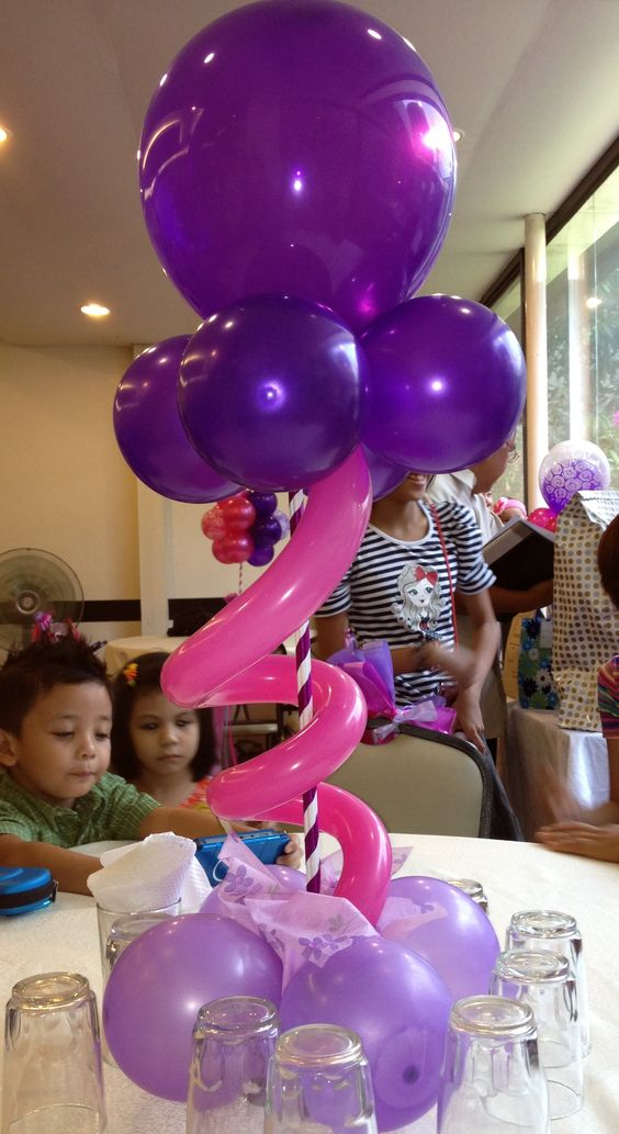 Centerpieces Tape And Balloons On Pinterest
