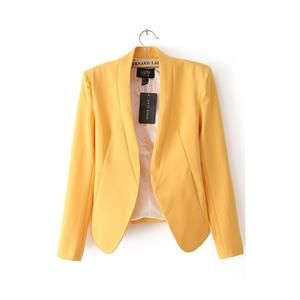 Candy Color Slim Fit Blazer