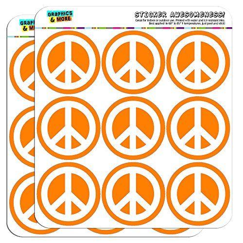 Peace Sign Symbol Orange 2 Planner Calendar Scrapbooking Https