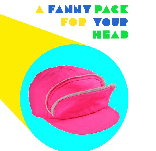 A FANNY PACK FOR YOUR HEAD! This is hilarious!