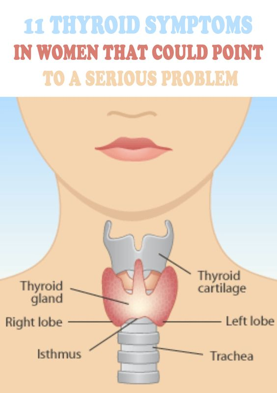 11 Thyroid Symptoms In Women That Could Point To A Serious Problem #thyroid #thyroidhealth #thyroiddisease #womenshealth