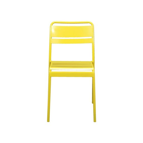 Yellow chairs for the balcony