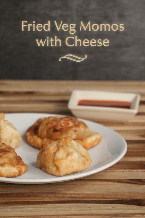 Fried Veg Momos with Cheese