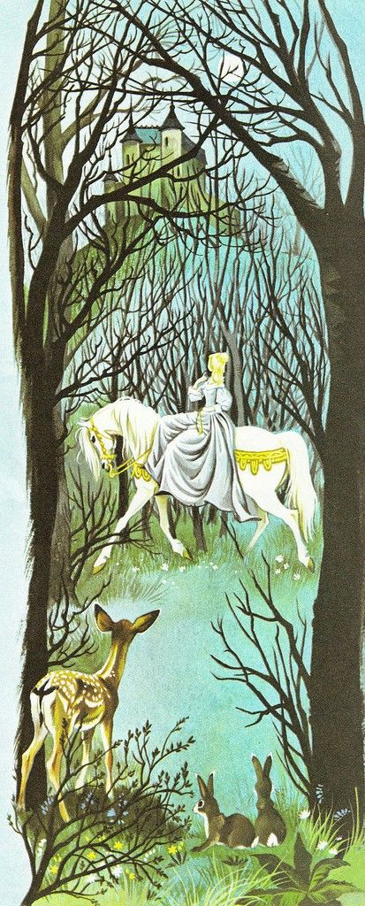 "Illustration by Janet and Anne Grahame Johnstone for ""Beauty and the Beast"", from 'A Book of Fairy Tales', published by Dean & Son Ltd. of London, 1977.:"