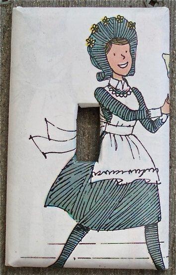 someday's nursery switchplate: Amelia Bedelia