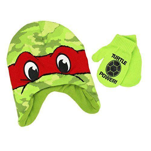 New Teenage Mutant Ninja Turtles Boys/' or Little Boys/' Hat /& Gloves Set