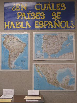a Spanish 1-2 classroom