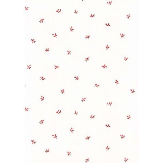 Limonta Vlies Vinyl Tapete mit kleinen Blättern 53105