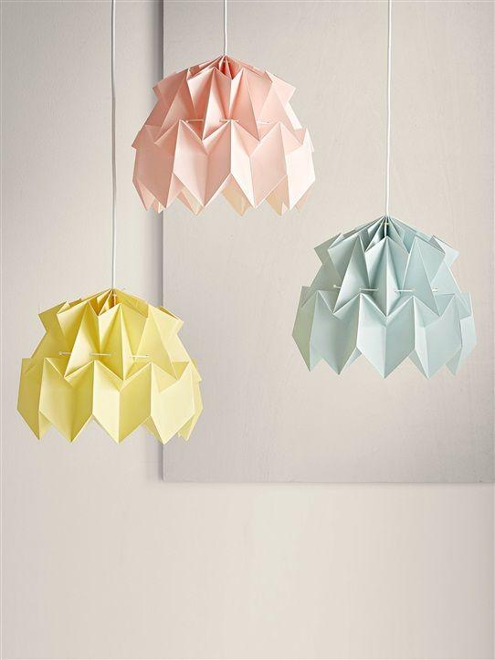 Suspension Origami Cyrillus - jaune pâle 15€