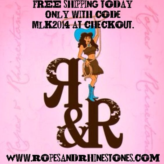 FREE shipping today only!  www.ropesandrhinestones.com