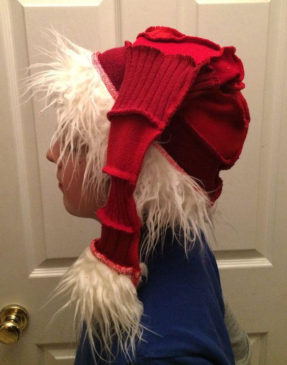 Recycled Sweater Santa Hat L by Aunty Em with by CraftedByAuntyEm